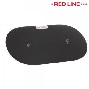 Беспроводная Qi зарядка на 2 устройства Red Line Qi-06 Черная