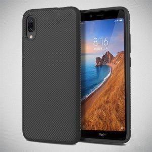 Carbon Силиконовый чехол для Xiaomi Redmi 7A - Черный