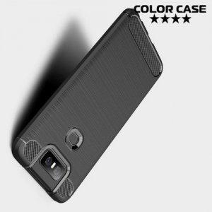 Carbon Силиконовый матовый чехол для Asus Zenfone 6 ZS630KL - Черный