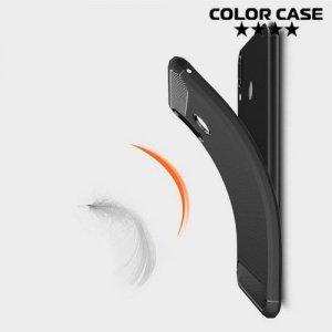 Carbon Силиконовый матовый чехол для Asus Zenfone Max M2 ZB633KL - Черный