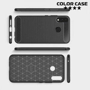 Carbon Силиконовый матовый чехол для Asus Zenfone Max Pro M2 ZB631KL - Черный