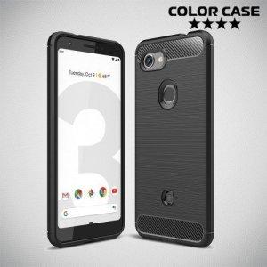 Carbon Силиконовый матовый чехол для Google Pixel 3a - Черный