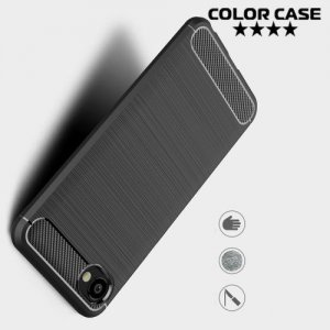 Carbon Силиконовый матовый чехол для HTC Desire 12 - Черный