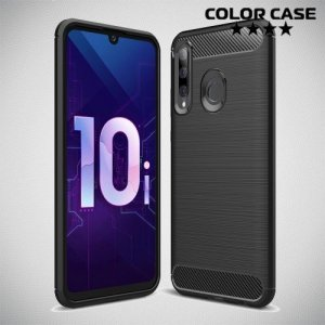Carbon Силиконовый матовый чехол для Huawei Honor 20 Lite - Черный