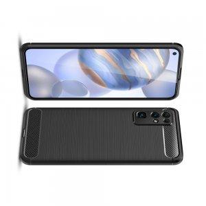 Carbon Силиконовый матовый чехол для Huawei Honor 30 - Черный