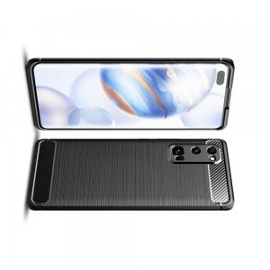 Carbon Силиконовый матовый чехол для Huawei Honor 30 Pro - Черный