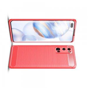 Carbon Силиконовый матовый чехол для Huawei Honor 30 Pro - Красный