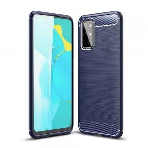 Carbon Силиконовый матовый чехол для Huawei Honor 30S - Синий