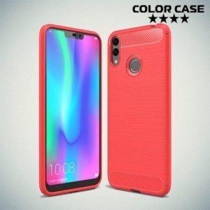 Carbon Силиконовый матовый чехол для Huawei Honor 8C - Коралловый