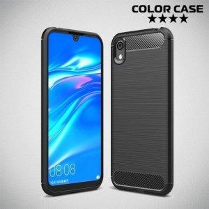 Carbon Силиконовый матовый чехол для Huawei Honor 8S / Y5 2019 - Черный
