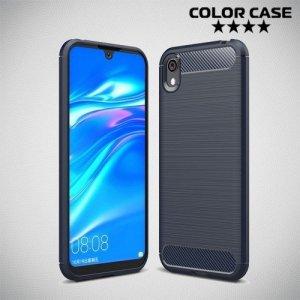 Carbon Силиконовый матовый чехол для Huawei Honor 8S / Y5 2019 - Синий