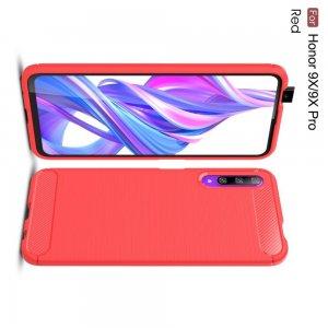Carbon Силиконовый матовый чехол для Huawei Honor 9X / 9X Premium - Красный