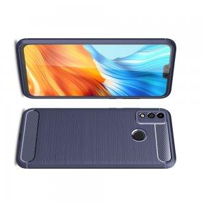 Carbon Силиконовый матовый чехол для Huawei Honor 9X Lite - Синий