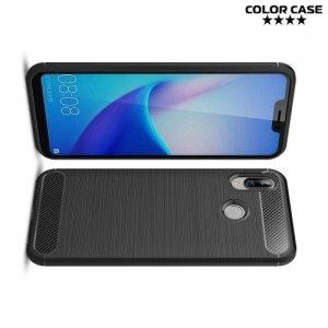 Carbon Силиконовый матовый чехол для Huawei Honor Play - Черный