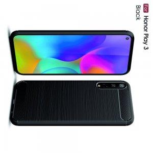 Carbon Силиконовый матовый чехол для Huawei Honor Play 3 - Черный