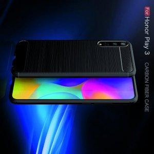 Carbon Силиконовый матовый чехол для Huawei Honor Play 3 - Красный