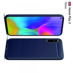 Carbon Силиконовый матовый чехол для Huawei Honor Play 3 - Синий