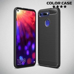 Carbon Силиконовый матовый чехол для Huawei Honor View 20 (V20) - Черный