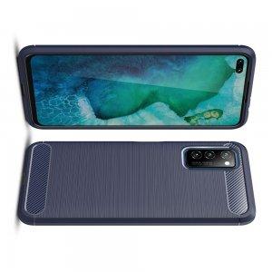 Carbon Силиконовый матовый чехол для Huawei Honor View 30 / View 30 Pro / 30 Pro - Синий