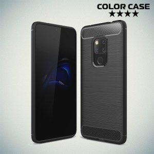 Carbon Силиконовый матовый чехол для Huawei Mate 20 - Черный