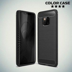 Carbon Силиконовый матовый чехол для Huawei Mate 20 Pro - Черный