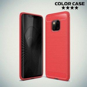 Carbon Силиконовый матовый чехол для Huawei Mate 20 Pro - Коралловый