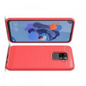 Carbon Силиконовый матовый чехол для Huawei Mate 30 Lite - Красный
