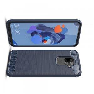 Carbon Силиконовый матовый чехол для Huawei Mate 30 Lite - Синий