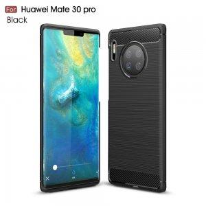 Carbon Силиконовый матовый чехол для Huawei Mate 30 Pro - Черный
