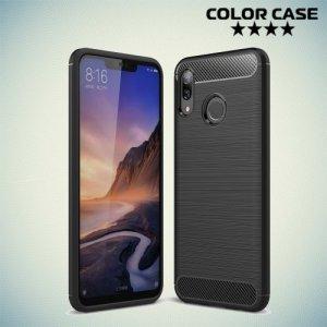 Carbon Силиконовый матовый чехол для Huawei Nova 3 - Черный