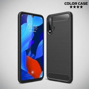 Carbon Силиконовый матовый чехол для Huawei nova 5 - Черный