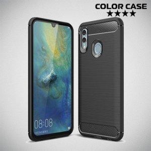 Carbon Силиконовый матовый чехол для Huawei P Smart 2019 / Honor 10 lite - Черный