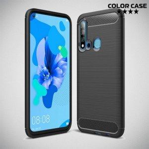 Carbon Силиконовый матовый чехол для Huawei P20 lite (2019) / nova 5i - Черный