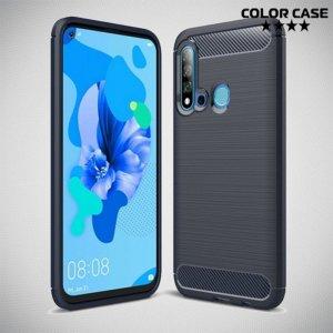 Carbon Силиконовый матовый чехол для Huawei P20 lite (2019) / nova 5i - Синий
