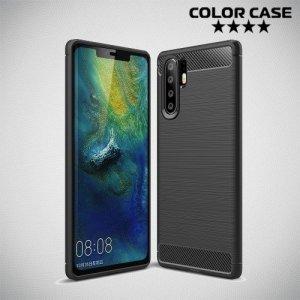 Carbon Силиконовый матовый чехол для Huawei P30 Pro - Черный