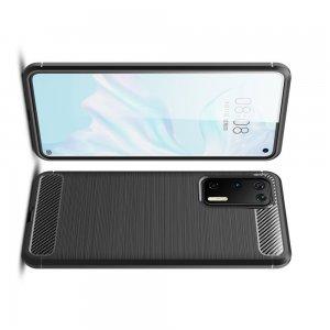 Carbon Силиконовый матовый чехол для Huawei P40 - Черный