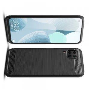 Carbon Силиконовый матовый чехол для Huawei P40 Lite - Черный