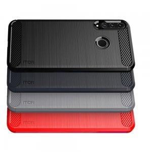 Carbon Силиконовый матовый чехол для Huawei P40 lite E / Honor 9C - Черный