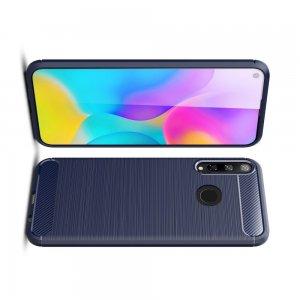 Carbon Силиконовый матовый чехол для Huawei P40 lite E / Honor 9C - Синий