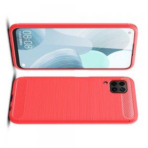 Carbon Силиконовый матовый чехол для Huawei P40 Lite - Коралловый