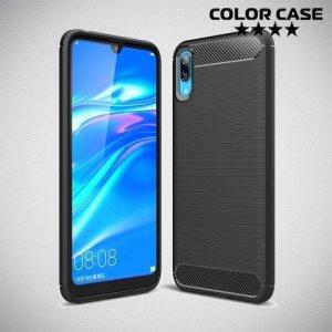 Carbon Силиконовый матовый чехол для Huawei Y7 Pro 2019 - Черный