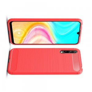 Carbon Силиконовый матовый чехол для Huawei Y8p / Honor 30i - Красный