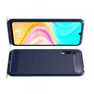 Carbon Силиконовый матовый чехол для Huawei Y8p / Honor 30i - Синий