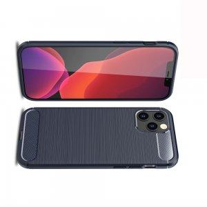 Carbon Силиконовый матовый чехол для iPhone 12 Pro Max - Синий