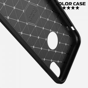Carbon Силиконовый матовый чехол для iPhone XR - Синий