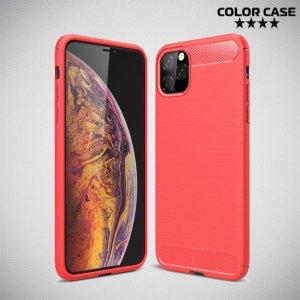Carbon Силиконовый матовый чехол для iPhone 11 Pro Max - Коралловый