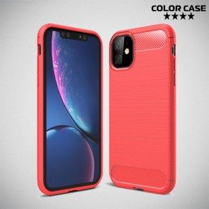 Carbon Силиконовый матовый чехол для iPhone 11 - Коралловый