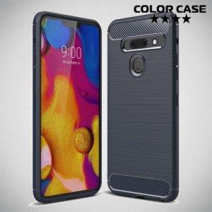Carbon Силиконовый матовый чехол для LG G8s ThinQ - Синий