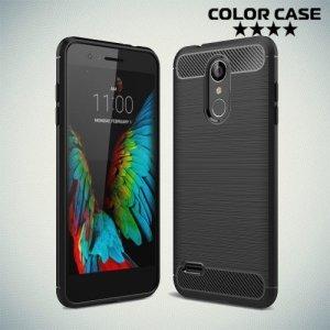 Carbon Силиконовый матовый чехол для LG K8 (2018) / LG K9 - Черный