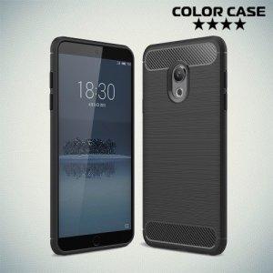 Carbon Силиконовый матовый чехол для Meizu 15 Lite - Черный